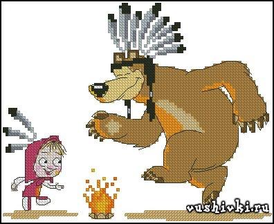 Маша и медведь. Индейцы - Манаенкова Наталия (Natasha4000)